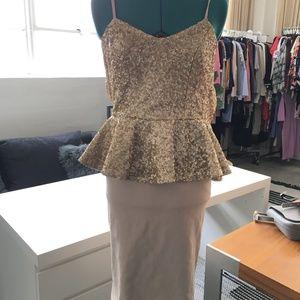 """Dress the Population """"Joan"""" Sequin Peplum Dress"""